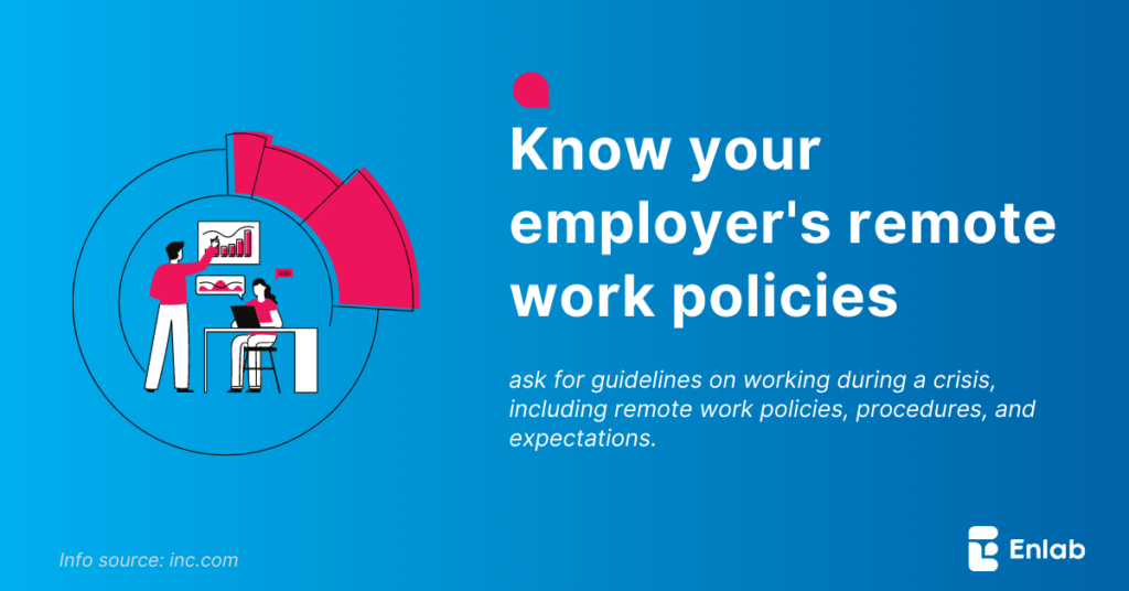 Know your employer's remote work policies