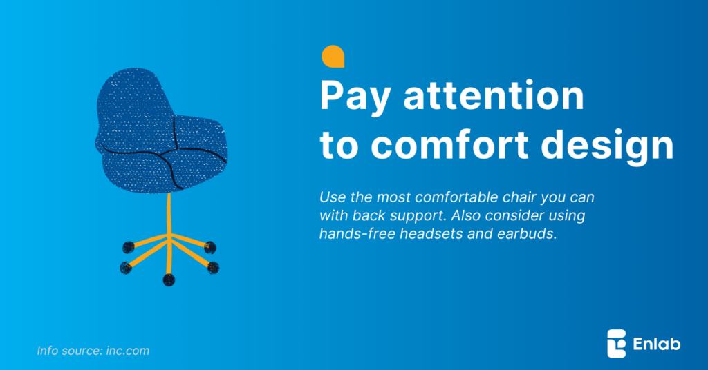 Pay attention to comfort design