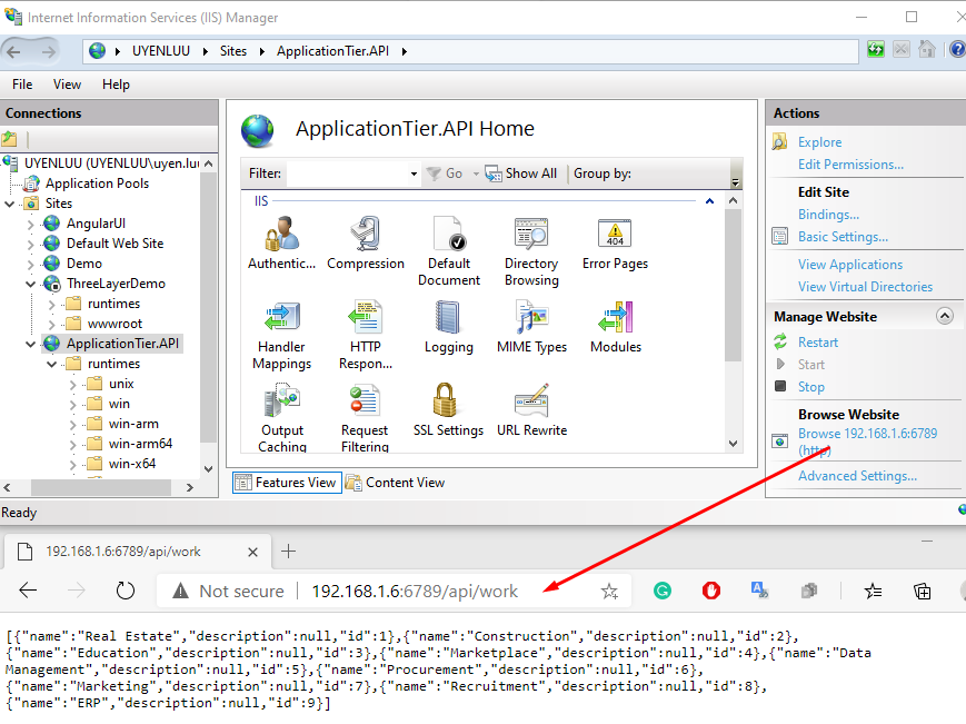 Application tier API