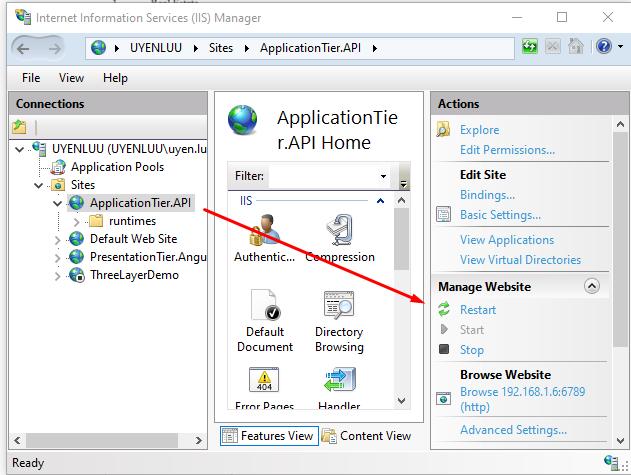 Application tier API 1