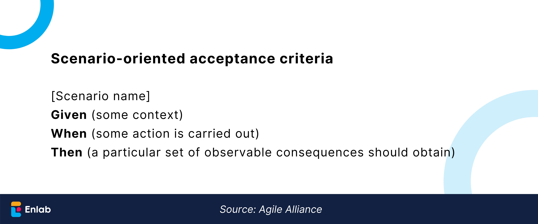 Scenario-based acceptance criteria