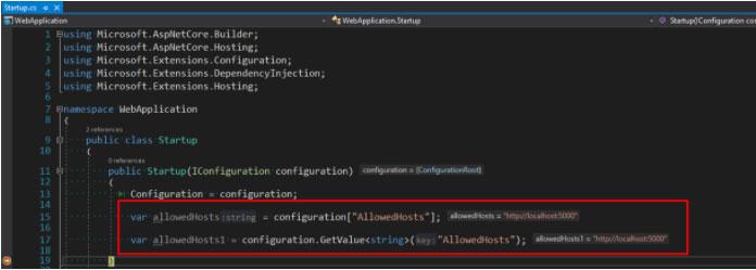 .net core config example 2.1 3