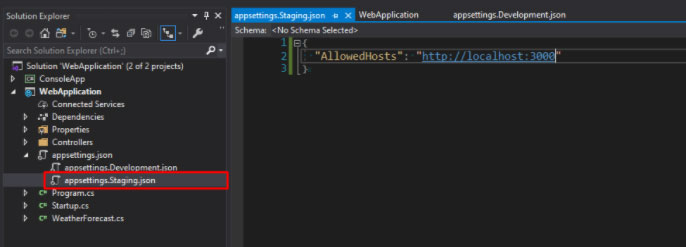 .net core config example 2.2 5