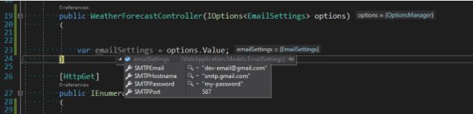 .net core config example 3.1 1
