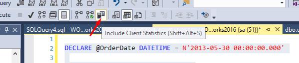 2. The Active Client Statistics option