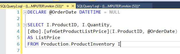 3. Example query in debug SQL queries