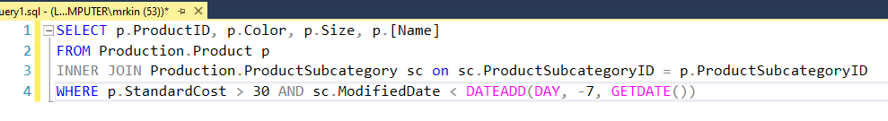 10. Inefficient - Using join condition inside where clause in SQL server